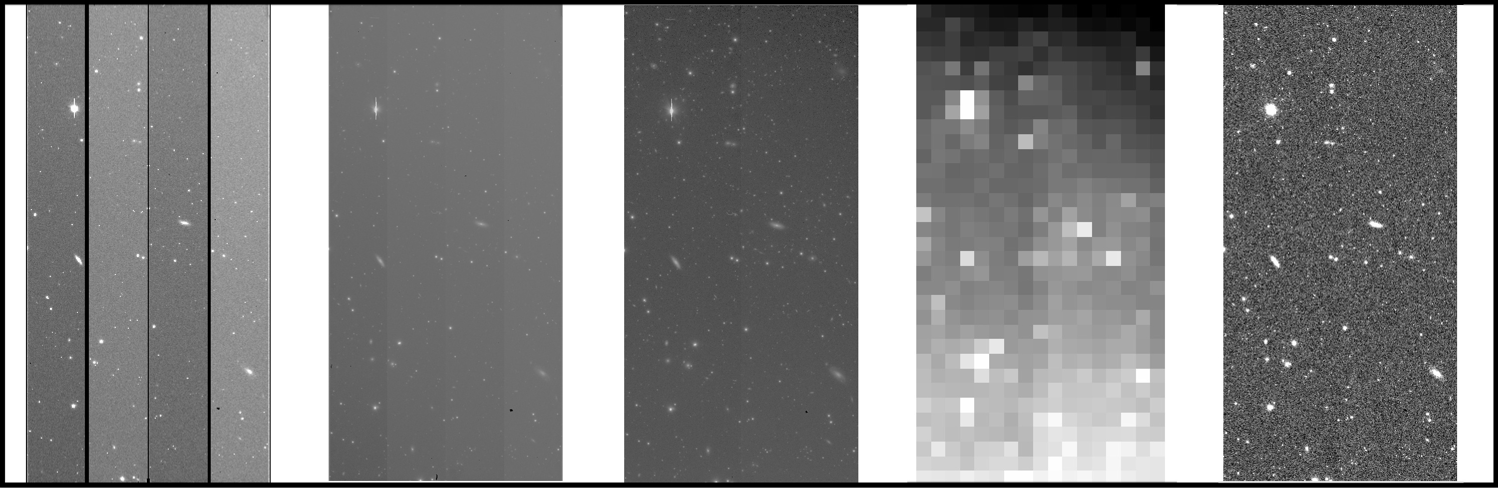 a series of processed CCD images